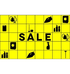 Cleaning equipment sale banner vector image