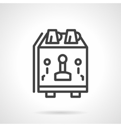Coffee equipment simple line icon vector image vector image