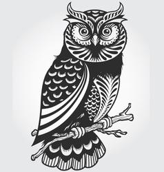 Decorative owl vector