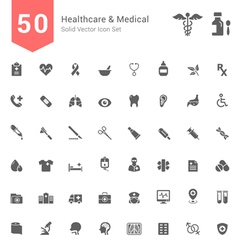 Healthcare and Medical Solid Icon Set vector image