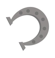 Horseshoe isolated on white vector image