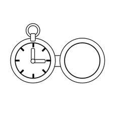 Line clock of pocket to know the time vector