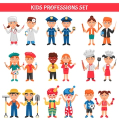 Professions Kids Set vector image