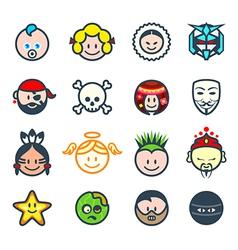 Social characters II vector image