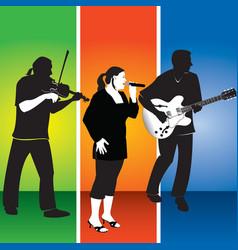 three musicians vector image vector image