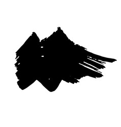 zigzag black ink dry brush stroke vector image