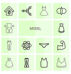 14 model icons vector