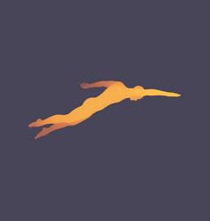 3d swimming man swimmer sport symbol vector