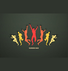 A group runners design for sport and business vector