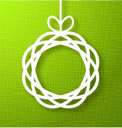 Abstract Circle Paper Applique on Green Background vector