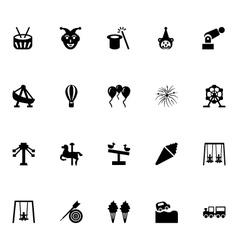 Amusement Park Icons 4 vector image