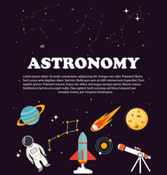 astronomy study education and science layout vector image