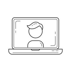 avatar line icon vector image