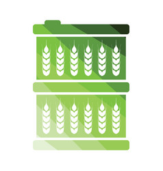barrel wheat symbols icon vector image