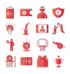 basketball game recreation sport gradient style vector image