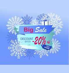 big sale discount offer only today -20 off vector image
