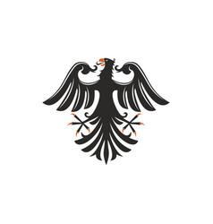 Black eagle heraldry symbol isolated bird mascot vector