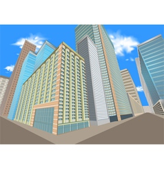 Building in the city vector