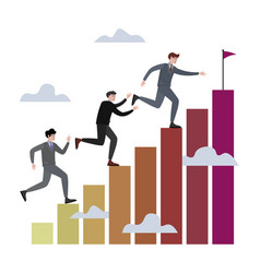 businessman competition in run vector image