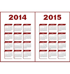 Calendar 20142015 vector image