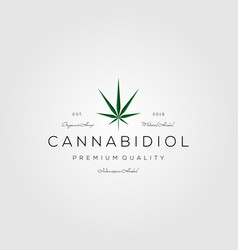 Cannabis vintage logo marijuana icon design vector