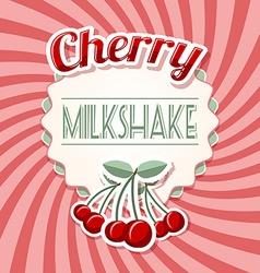 Cherry milkshake vector image