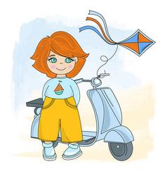 children cycle cartoon set vector image