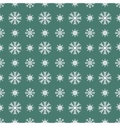 Christmas white snowflakes seamless green vector