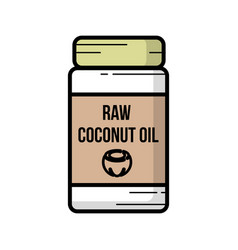 Coconut oil icon hand-drawn icon of coconut oil vector