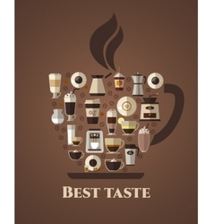 Coffee best taste poster vector image