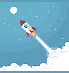 concept rocket launch can be used for landing vector image