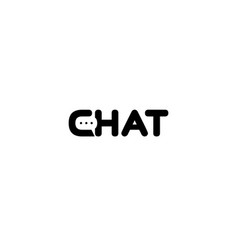 creative chat letter talk logo vector image