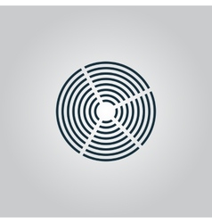 Crop Circle icon vector image
