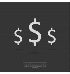 Dollar Signs background vector image