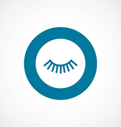 Eyelash bold blue border circle icon vector
