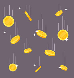 falling coins money rain flying dollar and vector image