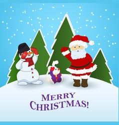 festive christmas card vector image