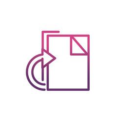file network social media icon line vector image