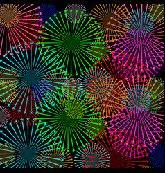 fireworks and stars in national american colors vector image