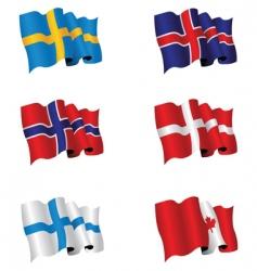 Flag set vector
