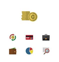 Flat icon finance set of payment interchange vector