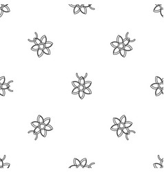 Flower necklace pattern seamless vector