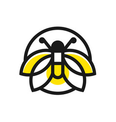 flying butterfly outline logo vector image
