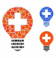 Healh care bulb composition icon round dots vector
