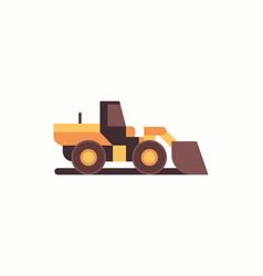 heavy excavator yellow loader machine coal mine vector image