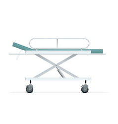 Hospital patient bed isolated on white vector