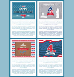independence day posters vector image