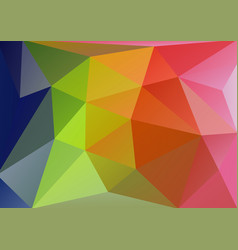 low polygonal triangle background vector image