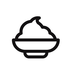 mashed potato icon vector image