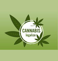 Medical cannabis or marijuana leaves ganja vector